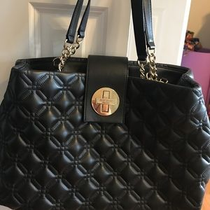 Kate Spade cushion black soft leather bag